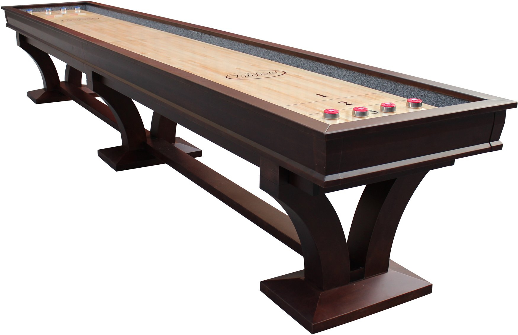 Playcraft Columbia River 16' Pro-Style Shuffleboard Table, Espresso by Playcraft