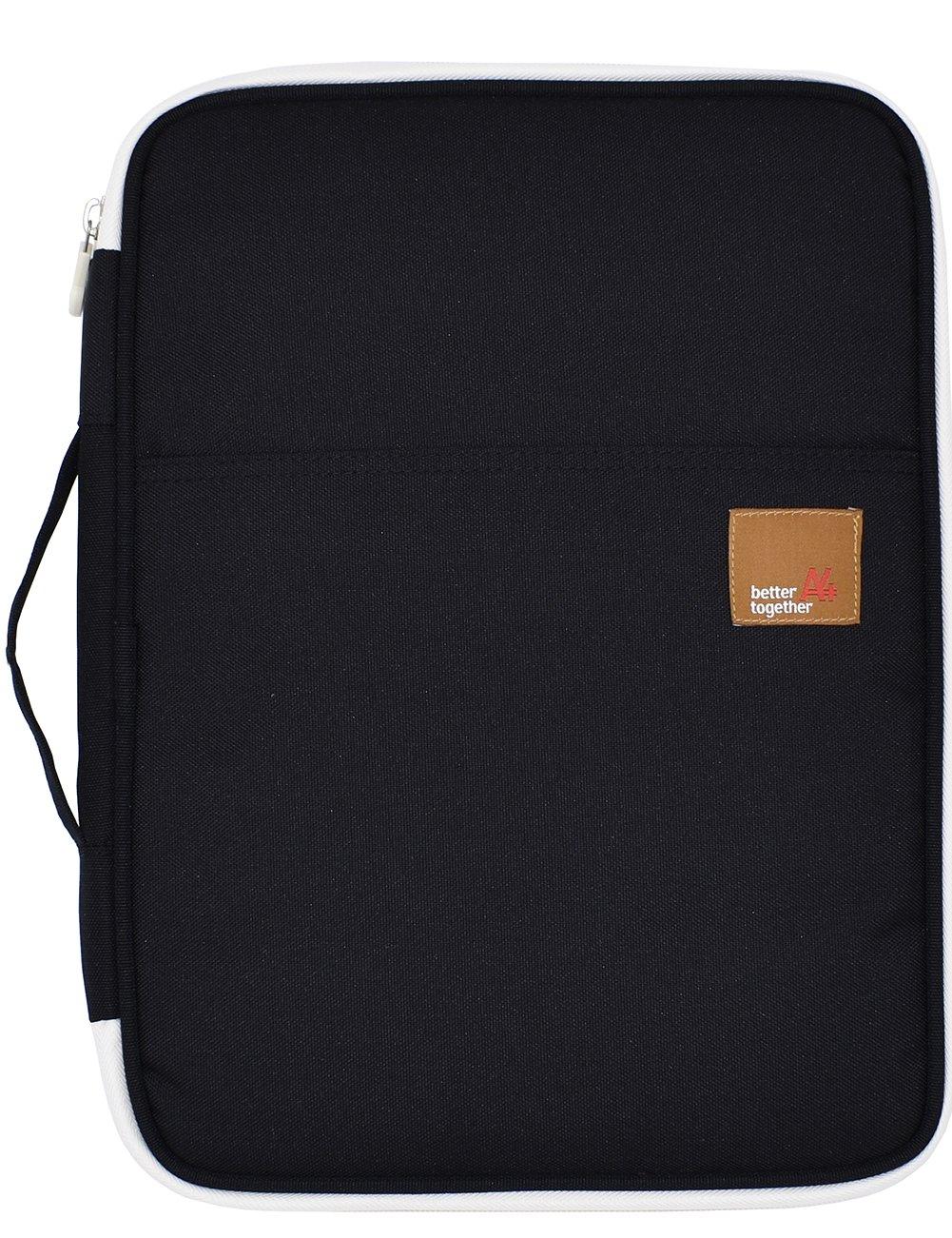 Mygreen Universal Travel Gear Organizer / Electronics Accessories Bag / Document File Bag (Large, Black)