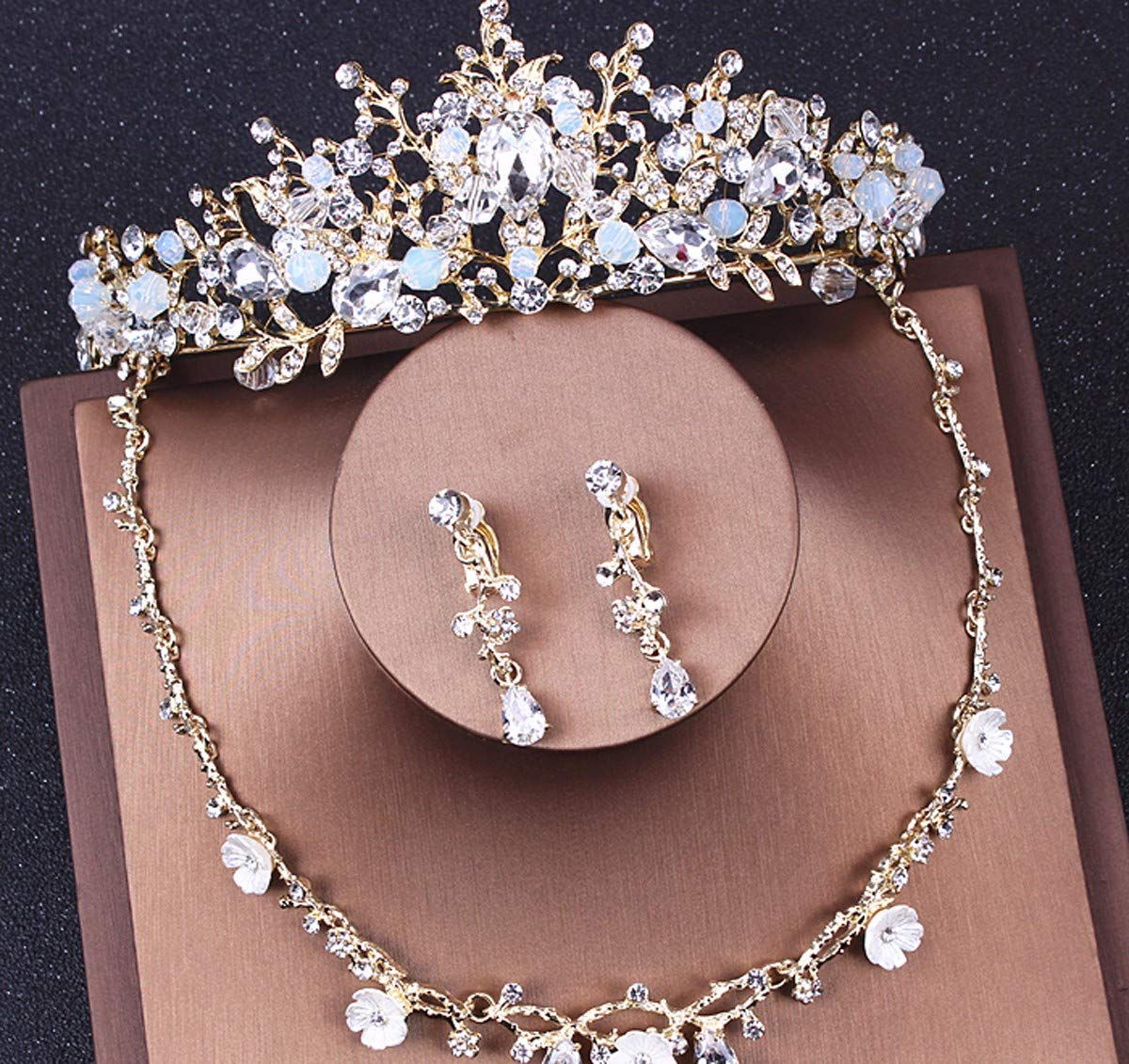 Girls Crown, Beautiful headdress/Crown Dress Bridal Wedding Accessories Necklace Baroque Crown Wedding Accessories by Zehaer (Image #2)