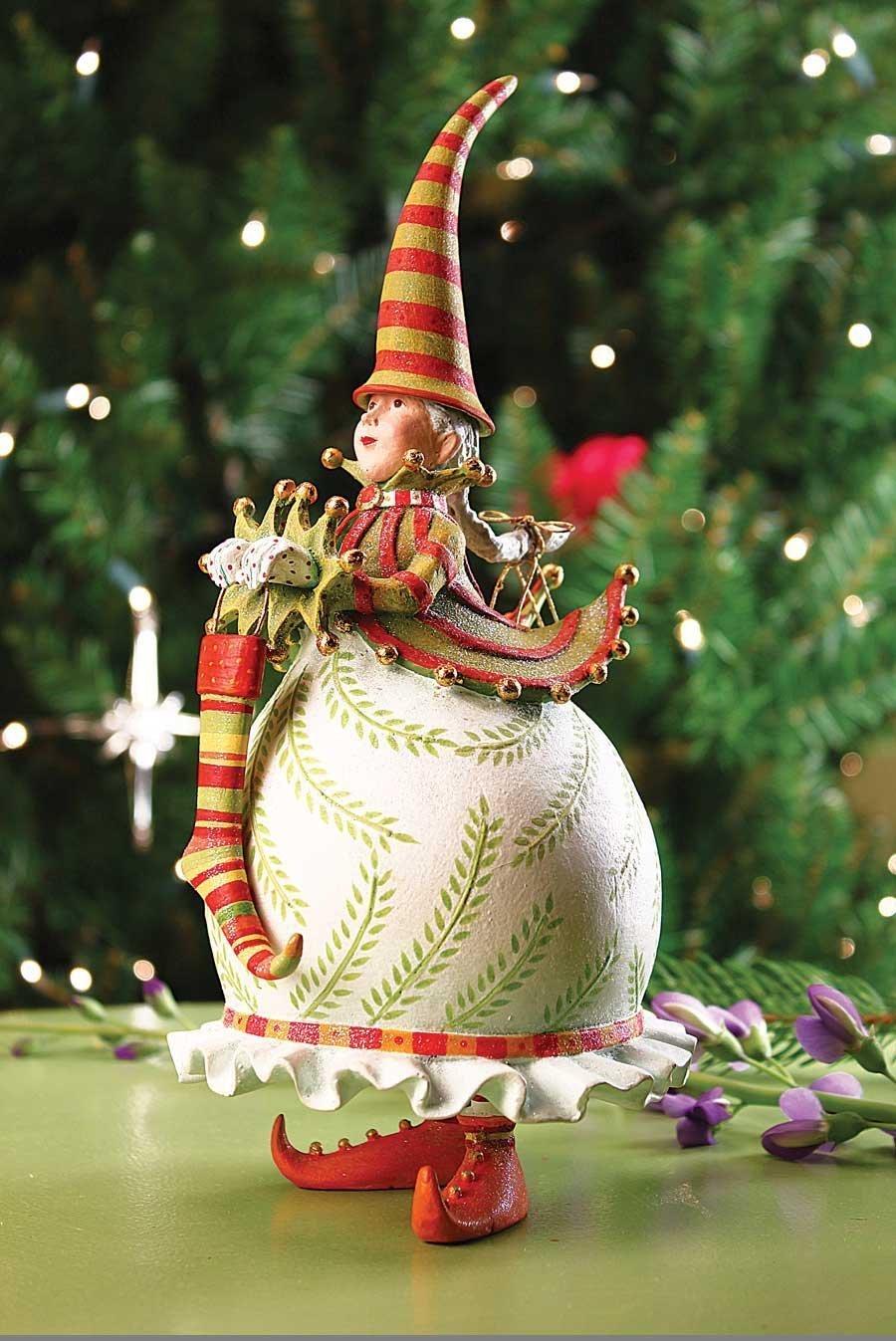 Geduld Brewster Frau Santa mit Strumpf Figur Figur Figur 36d93d