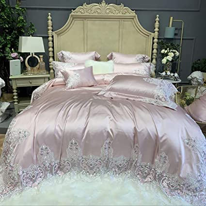 Sheet Pillowcase Bed Mattress Protector Cover Satin silk Fitted gift