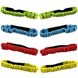 8PCS 3-Legged Race Bands Elastic Tie Rope with 4