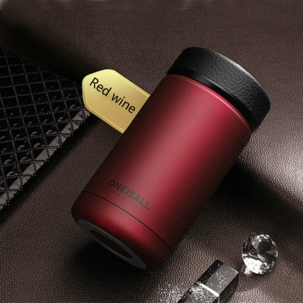 400ml 304 stainless steel vacuum flask kettle thermos coffee glass men's gift thermos bottle protection LU11131734 XI (Color : Red)