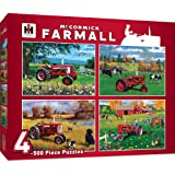 MasterPieces Multi Pack McCormick Farmall Jigsaw Puzzle, Tractors, 4-Pack, 500 Pieces