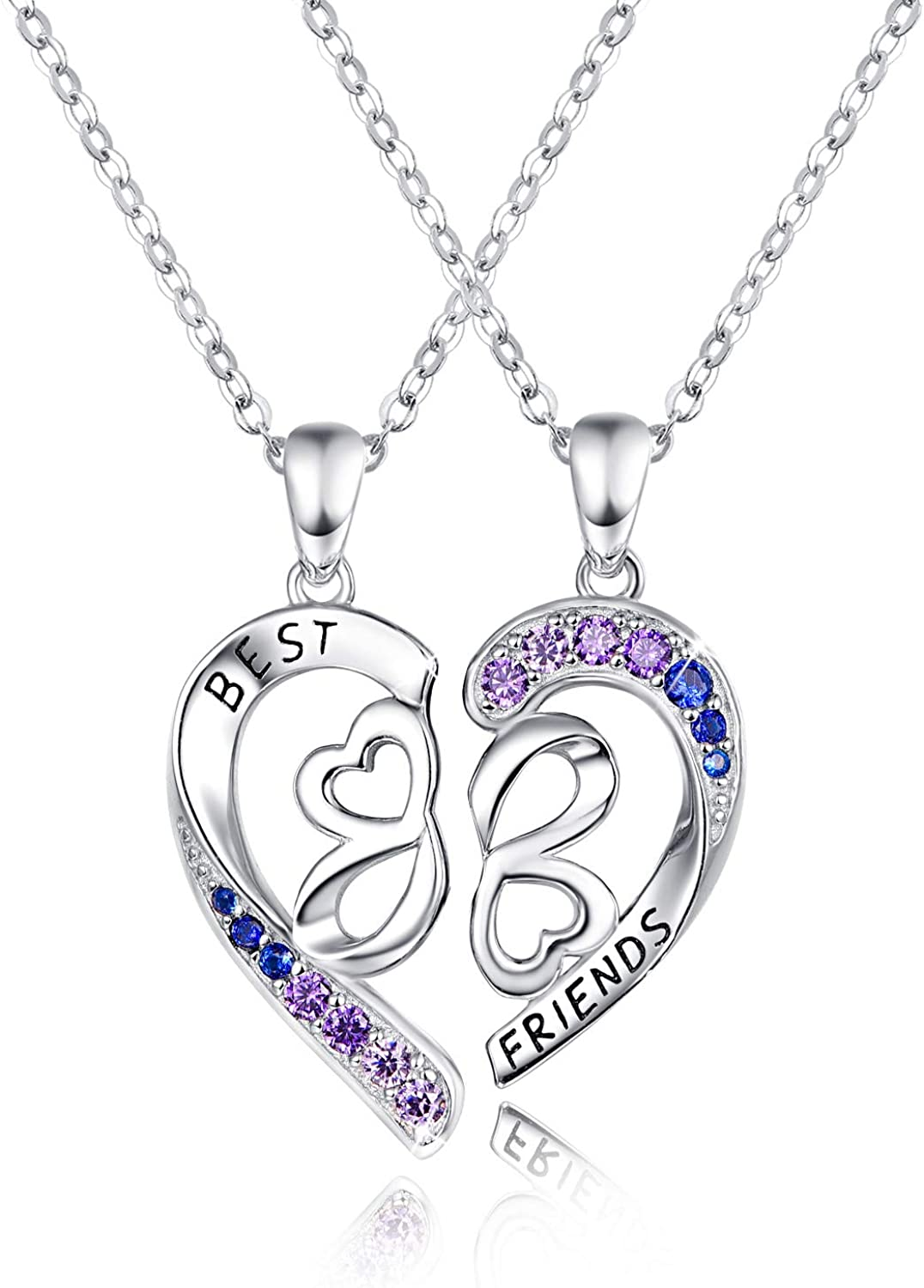 Friendship Pendant Familyjewelry Silver Silverpendant Heart Gift for her Valentine Love Necklace