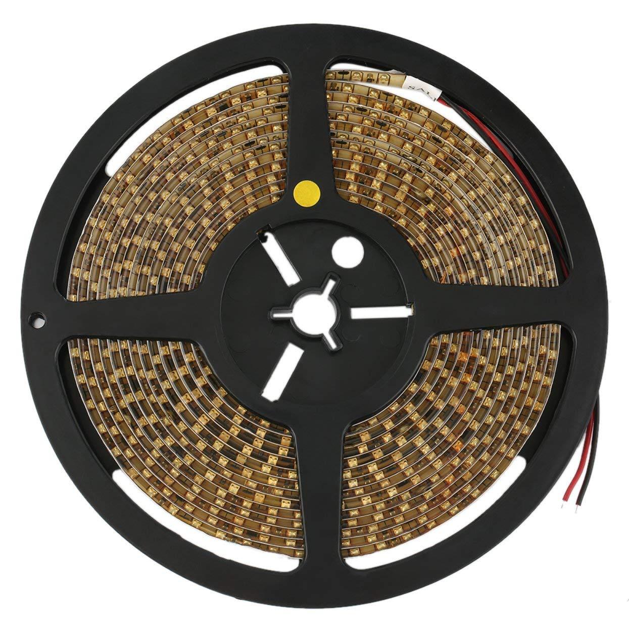 5M Car Yellow 3528 SMD LED Waterproof Flexible Strip 12V 600 LEDs LoveOlvidoY
