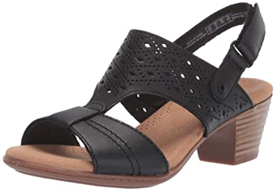 52f85d8bd CLARKS Women s Valarie Mindi Heeled Sandal Black Leather 050 ...