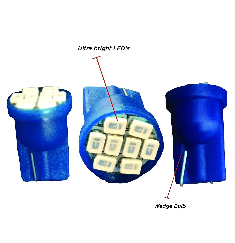 Part No: 2002-2115-B Truck Steady Non Fading Light Wedge Bulb Boreman Ltd - 24v Immediate Response Long Life Ultra Bright LED Wedge Bulb in Blue x 2 24 Volt Lorry