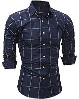 LeNG Slim New Male Fashion Brand Casual Business Slim Fit Men Shirt Camisa Long Sleeve Plaid Social Shirts Dress Clothing Cool