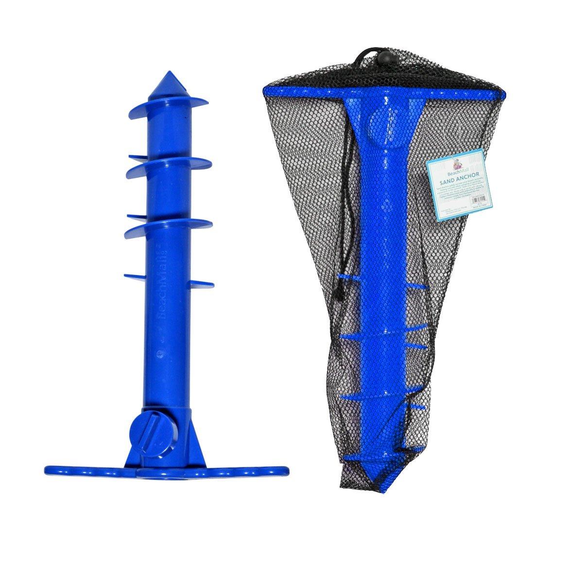 サンドアンカー/ Auger forビーチUmbrellas Add Mesh Carry Bag ブルー B01HB3HBQO