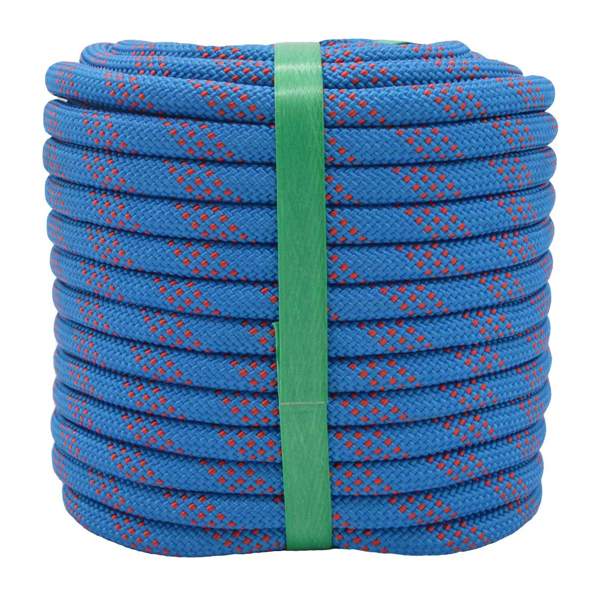 """YUZENET Braided Polyester Arborist Rigging Rope (3/8"""" X 100') Strong Pulling Rope for Climbing Sailing Camping Swings,Blue/Red"""
