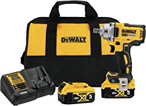 DEWALT 20V MAX Impact Wrench with Detent Pin Anvil Kit, Mid-Range, Tool Connect, 1/2-Inch (DCF896P2)