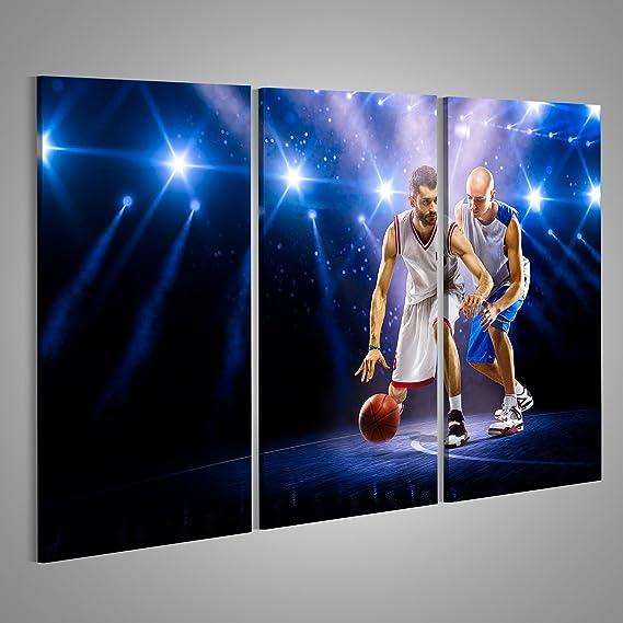 Cuadro Cuadros Dos Jugadores de Baloncesto en la acción en el ...
