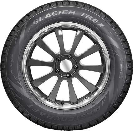 185//65-15 Mastercraft Glacier Trex Winter Studdable Tire 88T 185 65 15