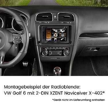 5N 1T Radioadapter VW Tiguan Touran ; Autoradio Einbauset LITE Radioblende