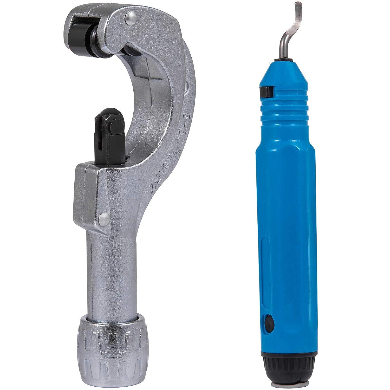 Frantools Hydraulikschlauch Tube Rohrexpander 10mm-28mm mit 7 Expanderk/öpfen HVAC