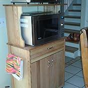 Amazon.com: Catskill Deluxe Microondas Cart, Madera, Marrón ...