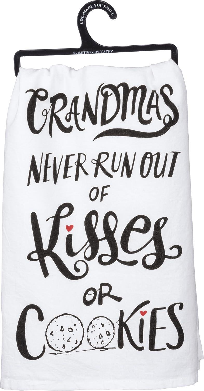 Amazon.com: Primitives by Kathy 33208 Lol Cotton Dish Towel, Kisses ...