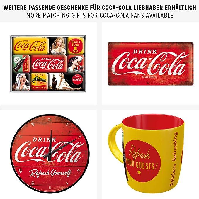 Nostalgic-Art 23192 Coca-Cola Plaque r/étro en t/ôle Motif serveuse 30 x 40 cm