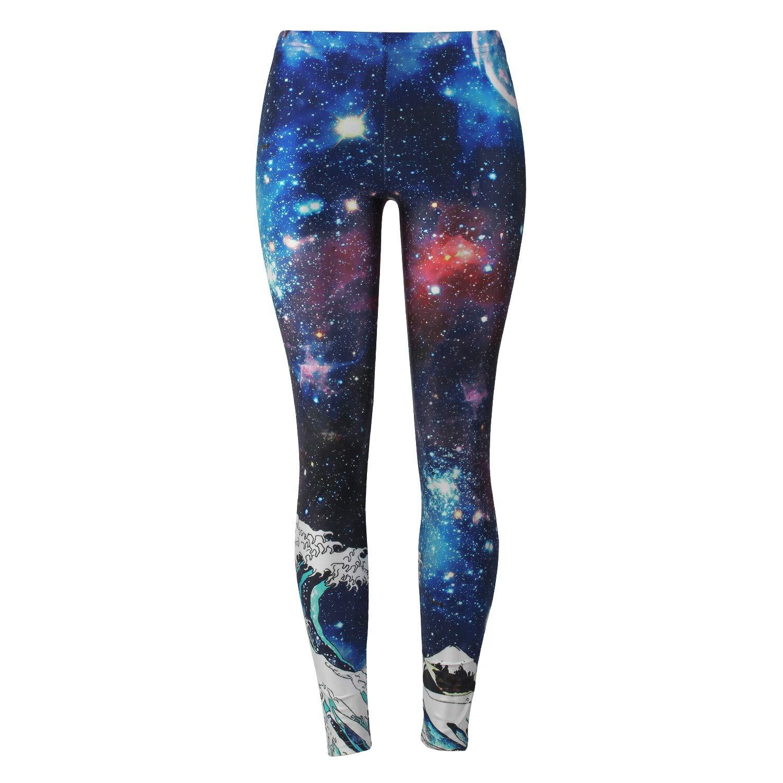 Mrsrui Yoga Leggings, Women Colorful Geometry Print High Waist Sports Gym Fitness Pants by Mrsrui