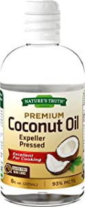Coconut Oil Liquid for Cooking | 8 oz | Vegetarian, Non-GMO & Gluten Free | Expeller Pressed | by Nature's Truth