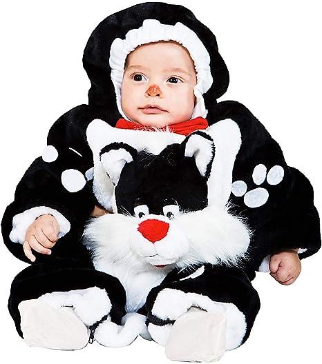Costume di Carnevale da Piccolo Gatto MALDESTRO Vestito per Neonato Bambino  3-12 Mesi Travestimento b12826396681