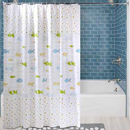 Uforme 72 Inch By 78 Shower Curtain Liner PEVA Waterproof Modern Ocean Theme Bathroom