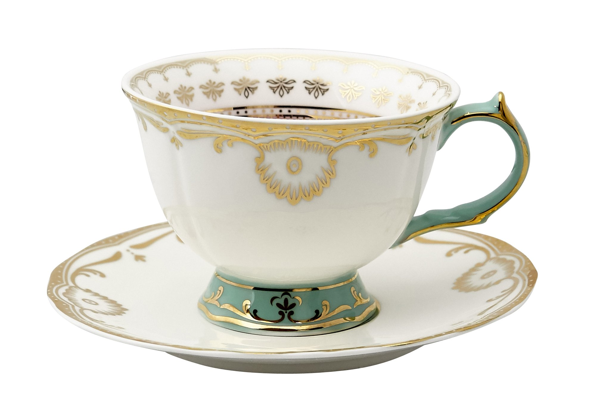Pretty Little Teacups Cup and Saucer Set White in Gift Box
