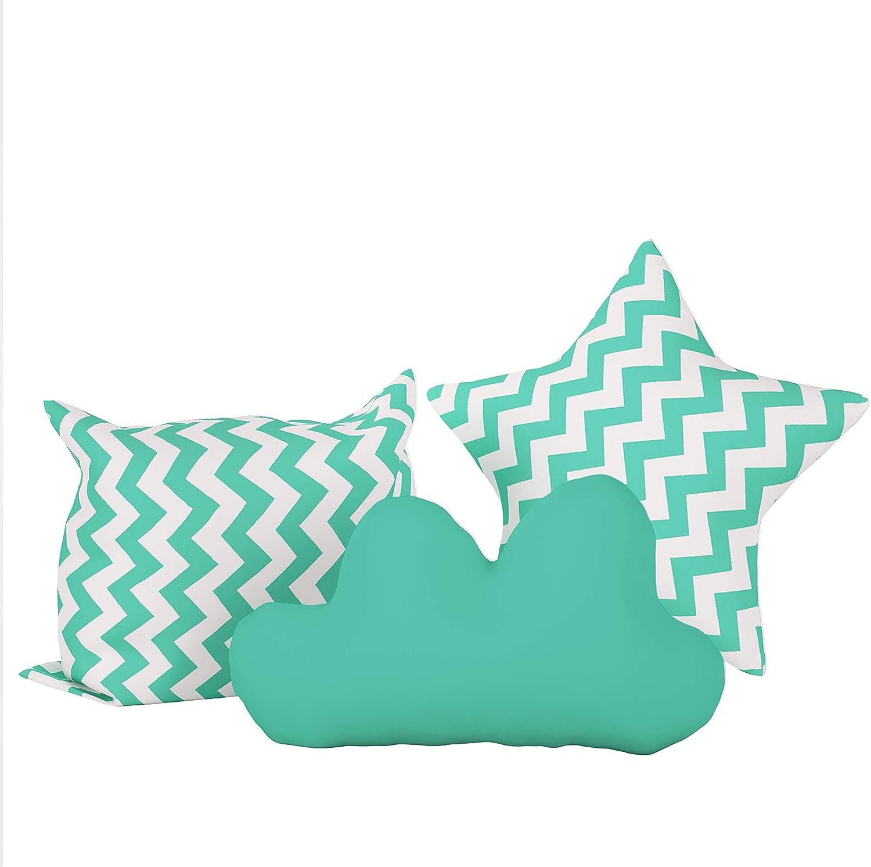 Elfique New Cushion un ensemble de trois oreillers moelleux coussin par Klara Brist