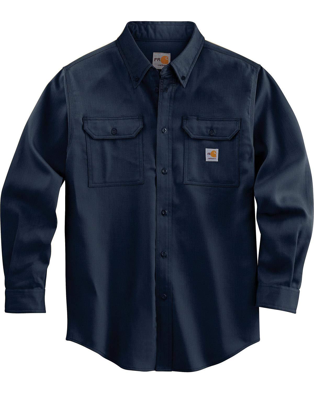 Bulwark X-Large Light Blue Cotton Nylon Flame Resistant Shirt With Button Closure