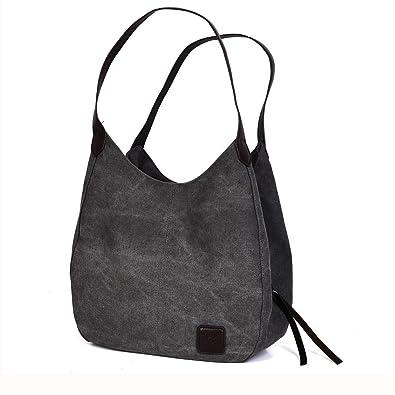 47a178e2ab44 Misona Fashion Tote Bag Women s Cotton Canvas Handbags Shoulder Bags for women  Totes and Purses (