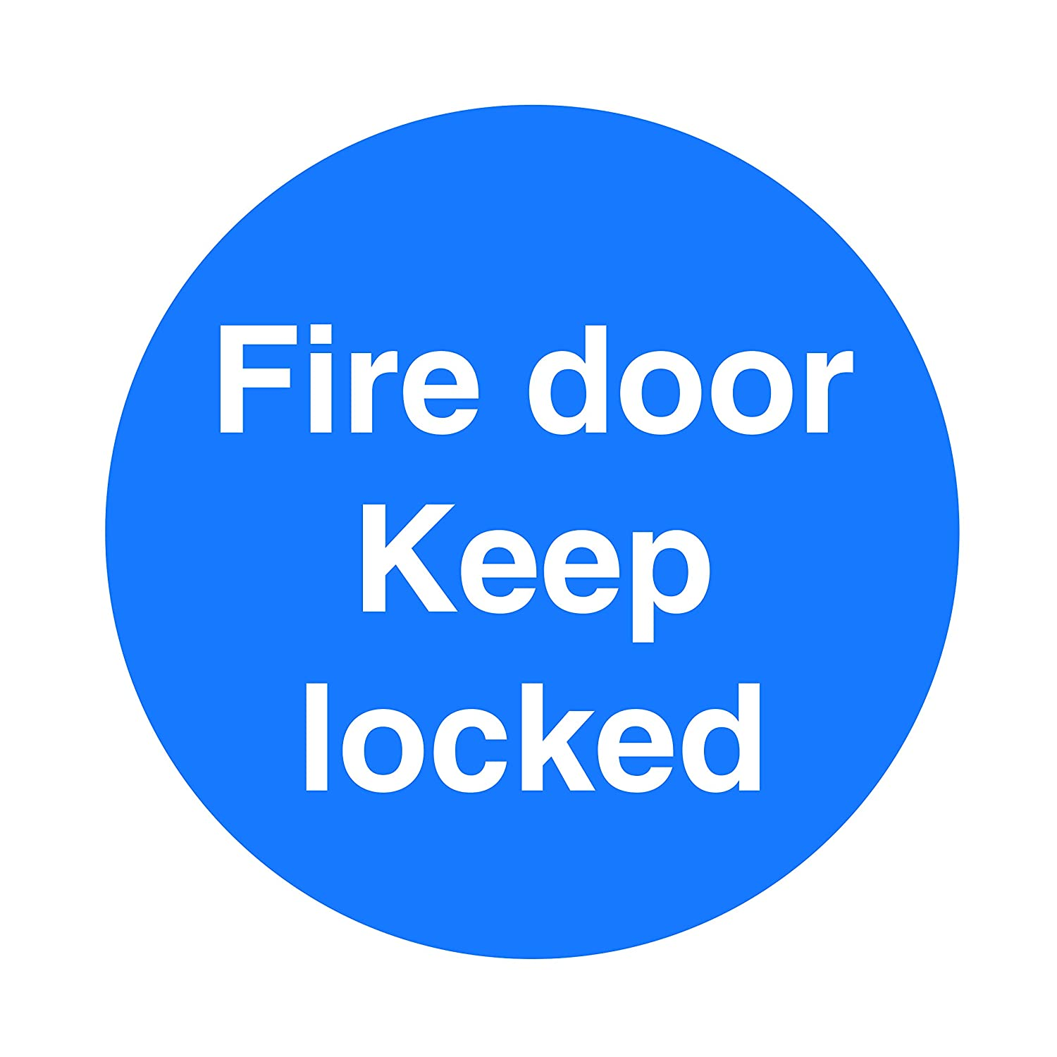 Fire Door Signs/Self Adhesive Stickers - 100x100mm - Quality Screen Printed By Profilesigns.co (5, Automatic fire door keep clear)