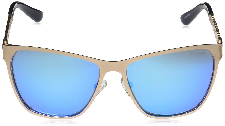 GUESS metal - anteojos de mm sol cuadradas cuadradas de metal para ...