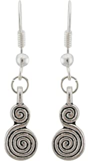 Zest Indian Jhumkas Drop Earrings with Swarovski Crystals Silver