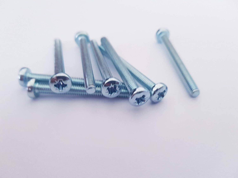 chapados en zinc, 4 mm x 40 mm, 20 unidades M4 Tornillos para m/áquina de coser