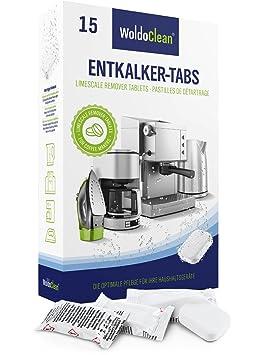 Descalcificador Cafetera Pastillas de descalcificación - 15x 16g Tabletas para máquina de café, Compatible con marcas Delonghi, Dolce Gusto, Nespresso, ...