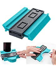 Contour Gauge Duplicator 5 Inch Plastic Irregular Copy Contour Tool Standard Wood Marking Tool Tiling Laminate Tiles General Tools (Blue)