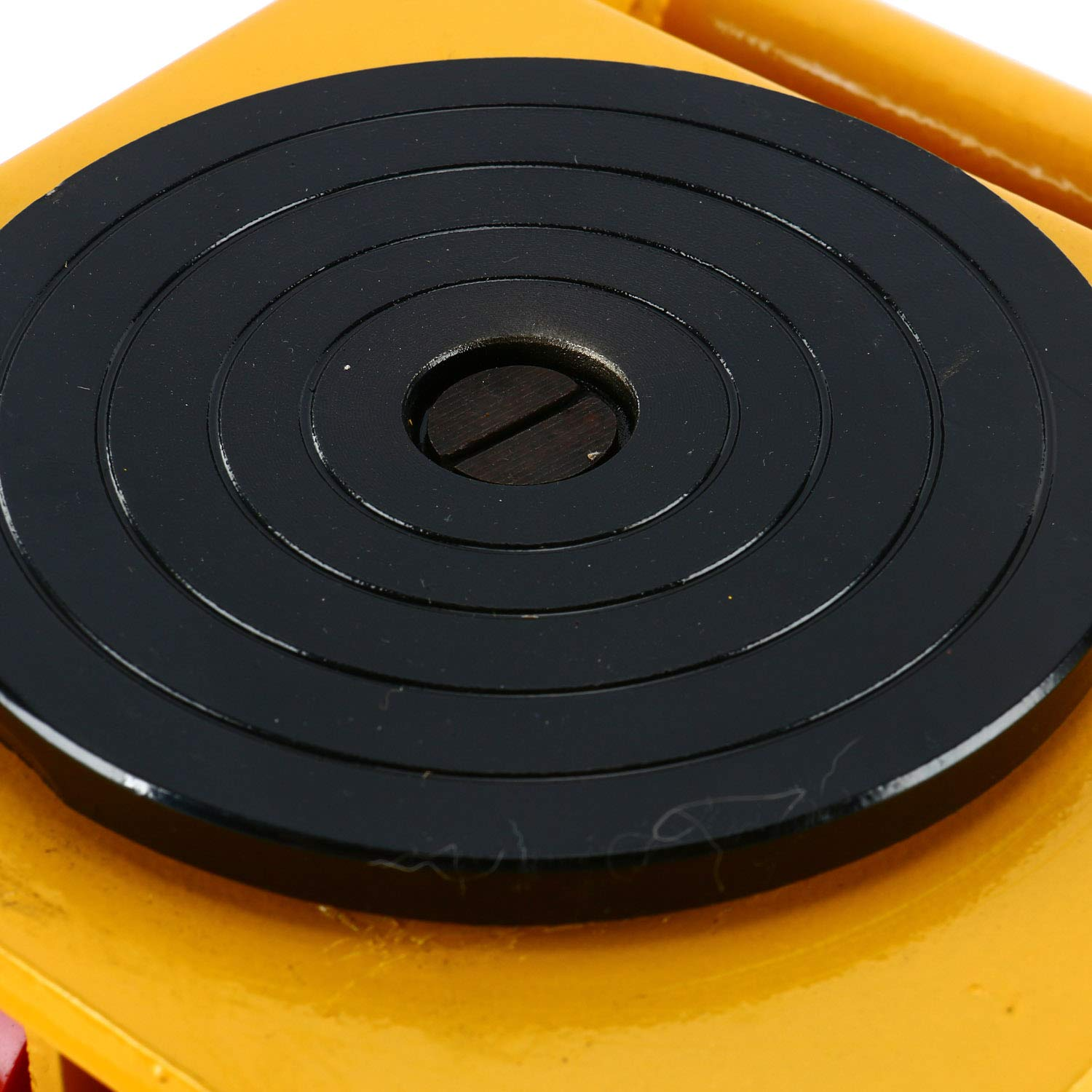YaeTek Industrial Machinery Mover 13200 lbs 6 Tons Machinery Skate Dolly with 4 Rollers Cap 360 Degree Rotation (Yellow) by YAE TEK (Image #7)