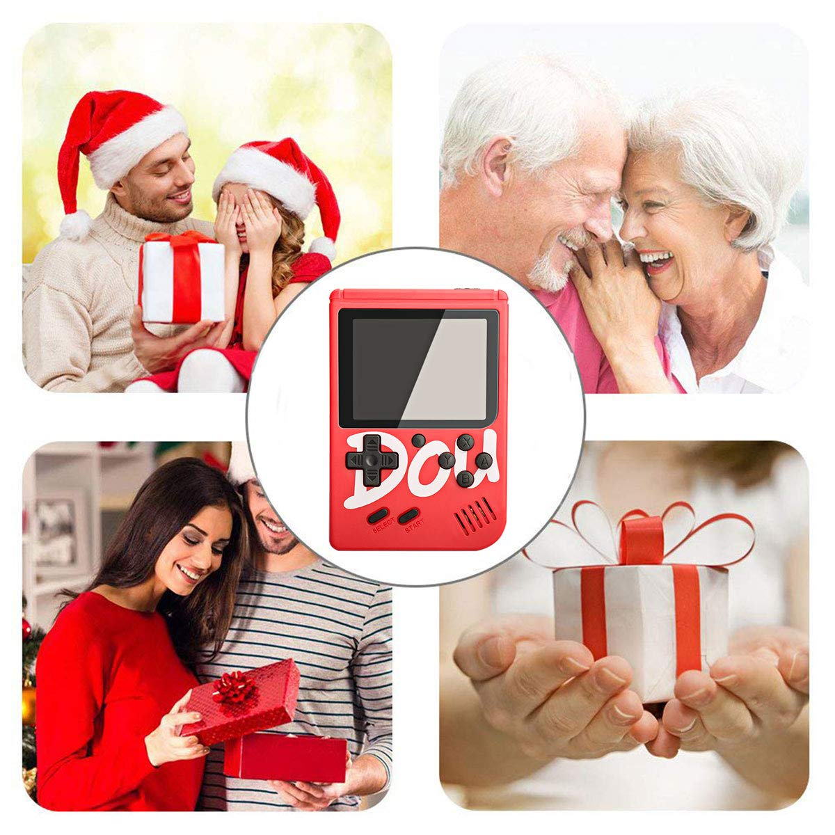 Black MERIT OCEAN Handheld Game Console with Gamepad 360 Classic NES FC Games 3 Inch LCD Screen Portable Retro Video Game Console Support TV Output and Two Players Good Gifts for Kids Adult