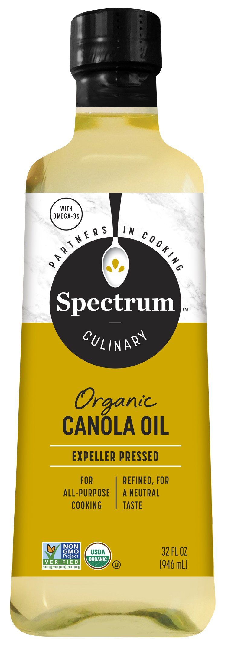 SPECTRUM NATURALS Oil Canola Refined Organic, 32 Ounce by Spectrum