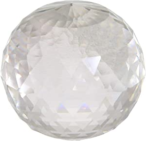 """Sagebrook Home, Clear Decorative Glass Faceted Orb, 4.75"""" x 4.75"""" x 4.75"""""""
