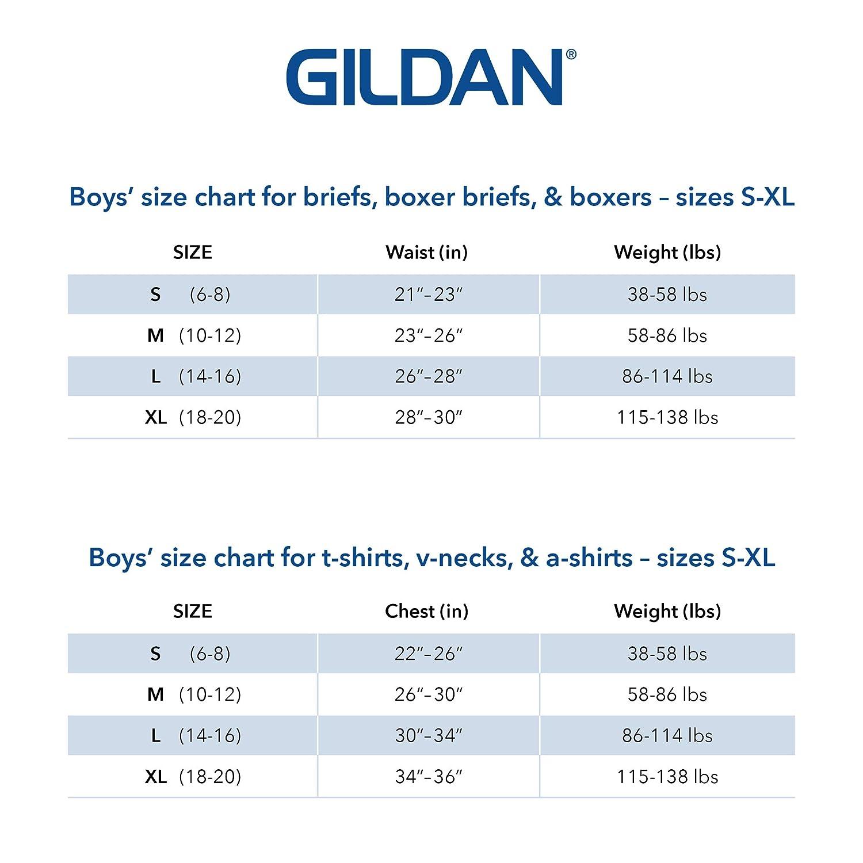 Gildan Boys Crew T-Shirts 6-Pack