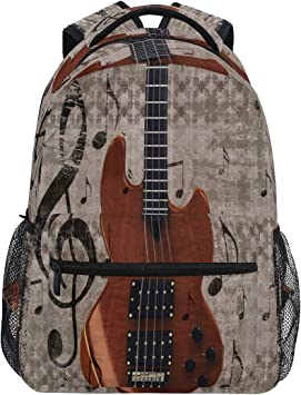 funnyy Retro Musical Guitar Laptop Backpack College School