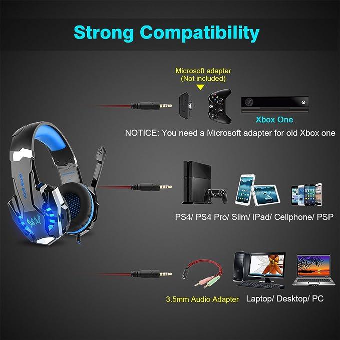 Amazon Diza100 Kotion Each G9000 Gaming Headset Headphone 35mm