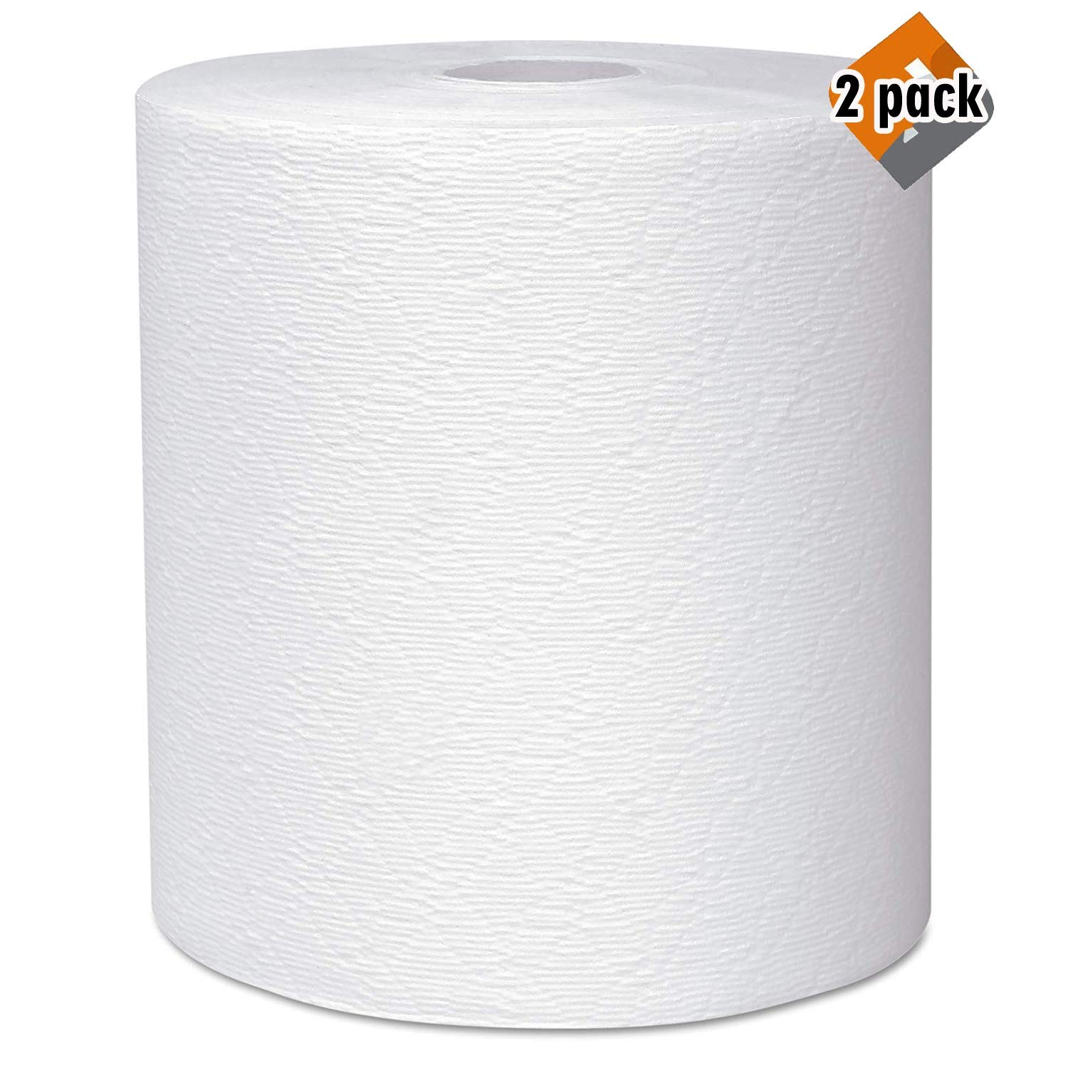 Scott 50606 Essential Plus Hard Roll Towels 8'' x 600 ft, 1 3/4'' Core Dia, White (Case of 6 Rolls) - 2 Pack by Scott