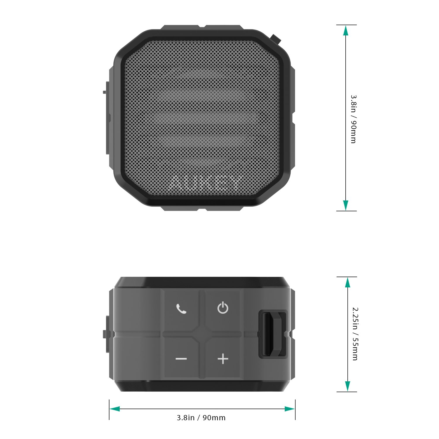AUKEY Portable Bluetooth Speakers with Enhanced Bass and Built in Mic Outdoor Wireless Speaker Water Resistant for iPhone, iPad, Samsung by AUKEY (Image #6)