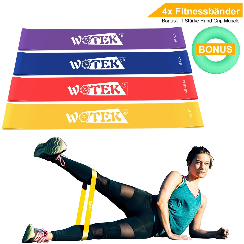 WOTEK Bande /Élastique Fitness /Élastique Musculation Bande de Resistance /Élastique Sport /Élastique Pilates 3xR/ésistance /Élastiques pour R/é/éducation Physique et Motrice /Élastique Musculation