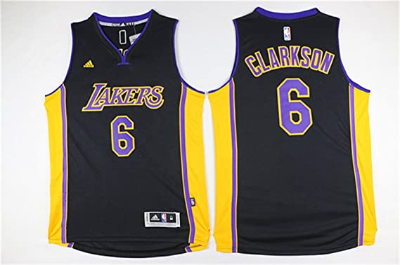 low priced e1703 6a6b7 Lakers 6 Jordan Clarkson Black Swingman Jersey Size-L ...