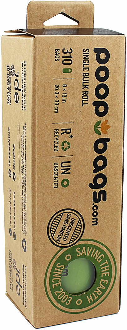 PoopBags Single Bulk Roll of 310 Poop Bags