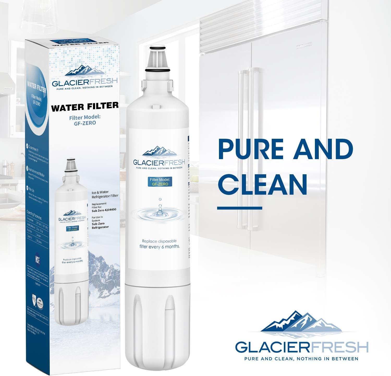 2 St/ück 4204490 Subzero Wasserfilter f/ür Insinkerator F-1000 Sub zero 4204490 Wasserfilter Kartusche von Glacier Fresh